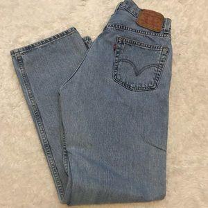 Men's Levi's 505 Regular Straight Fit 31x32 Jeans